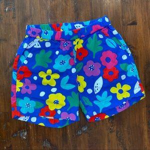 Hanna Andersson Girls Flower Shorts 120cm/US 6-7